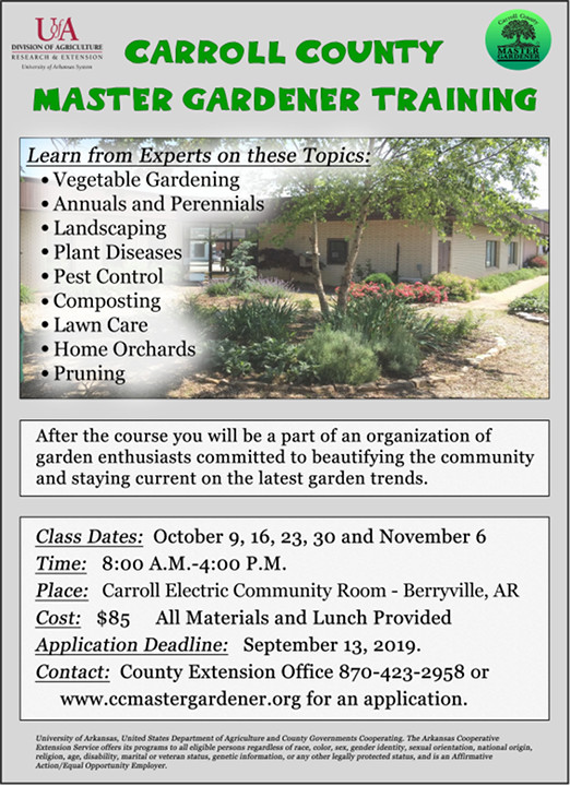 Carroll County Arkansas Master Gardeners – Gardening in